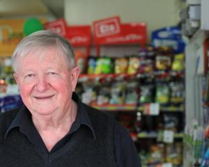 North Oamaru grocer Brian Fraser has  watched the world go by from his Four Square store since...