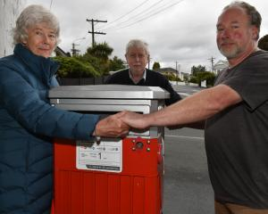 Belleknowes residents Kenzie Sutton, Craig Bush and Chris Collins want the post box in Highgate...
