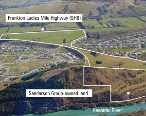 An aerial view of  the two tracts of land proposed for the Queenstown Country Club retirement...