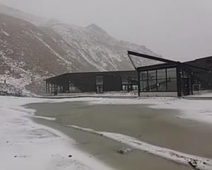 Snow has been falling on the Remarkables Ski Field in Queenstown in mid January. Photo: Facebook