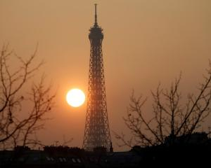 The Eiffel Tower in Paris. Photo Reuters
