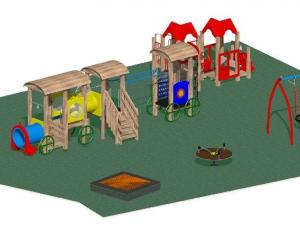 This design has been chosen for a new playground in Green Island. Image supplied.