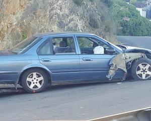 The accident occurred around 5.50pm. Photo Alysha Gibbs
