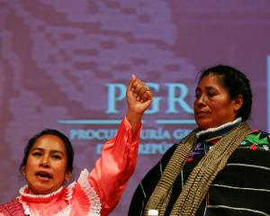 Jacinta Francisco (right) one of three indigenous women who were wrongfully jailed for years,...