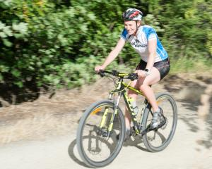 Camille O'Connor, of Alexandra, trains for the Otago Central Rail Trail Duathlon. PHOTO: IMAGE...