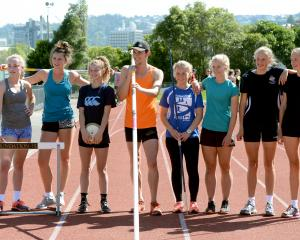 With some of the tools they will be using at the New Zealand decathlon and heptathlon and ...