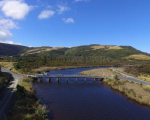 An aerial photo of the MacLennan road bridge, which will be closed for up to  10 weeks so it can...