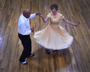 Peter Kara and his dance partner Mary Ann Bishop strut their stuff during the South Island...
