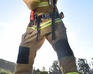Waitati Volunteer Fire Brigade member Jody Williams tests  a  Keiser Force machine in Waitati  in...