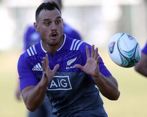 Israel Dagg at a recent All Black training session. Photo: Getty Images