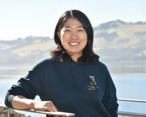 Japanese rower Haruna Sakakibara (22) at the Otago University Rowing Club yesterday. Photo:...