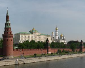 Panorama of Moscow Kremlin from Bolshoi Kamenny bridge. Photo: Wikimedia Commons.