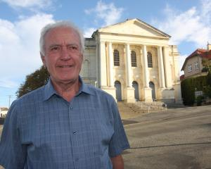 Bob Avis, of Oamaru, outside Columba Presbyterian Church last year. PHOTO: SHANNON GILLIES