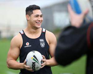Tuivasa-Sheck (23) said he was honoured to become the Warriors' 11th captain. Photo: Getty Images