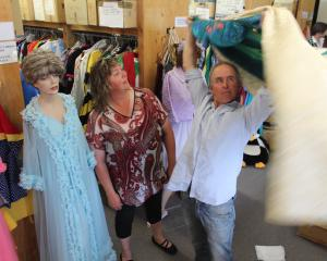 South Otago Theatrical society jubilee show director Robyn Gardner and assistant director Brent...