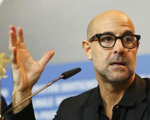Director Stanley Tucci attends a news conference to promote the movie 'Final Portrait' at the...