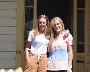 Second-year students Greer Ferguson (left), of Queenstown,  and Julia Landels, of Balclutha, are...