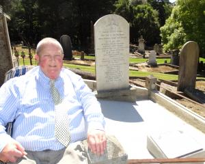 Extensive restoration work was done on the grave of Arthur Burns and five family members in the...