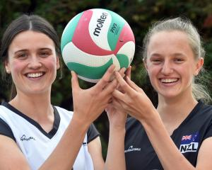 Otago Girls' High School pupils Maddy Campbell (left) and Jenna Thorne, after being selected for...