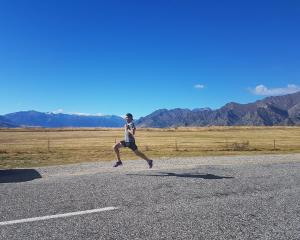 Olympian Nick Willis pushes himself while training near Lake Hawea last week. The two-time...