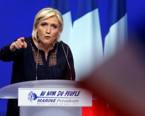 "Le Pen says the EU ""will die"". Photo: Reuters"