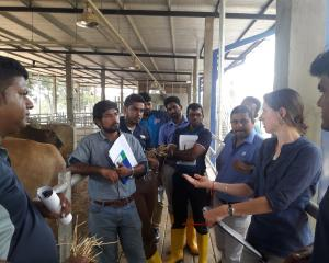 Kelso dairy farmer Marloes Levelink has returned from a three-week stint in Sri Lanka. Photos:...