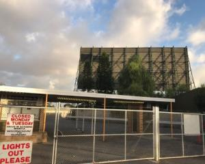 Fire has destroyed Adelaide's last remaining drive-in cinema, after someone used a car to break into the property and steal an ATM. Photo: Twitter