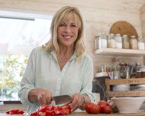 Annabel Langbein in the kitchen prepping food. Photo supplied.