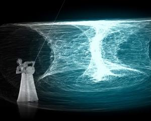 An image from AXIS — anatomy of space, a dome dance film, which will premier at Otago Museum's...