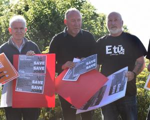 Etu staff (from left) Helen Owen, Stevan Briggs, Mike Kirwood, Neville Donaldson and Chas Muir...
