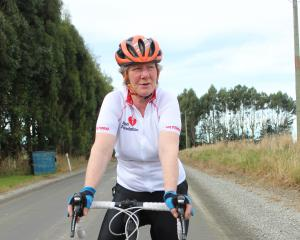 Shirley Johnstone is raising money for the Heart Foundation in an eight-day cycle event through the North Island. Photo by Samuel White.