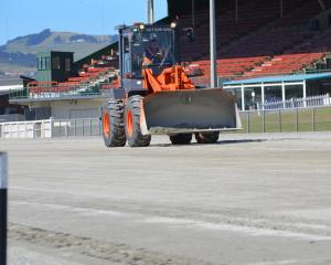 Heavy machinery was the only form of horsepower on the Forbury Park track on Thursday as a major...