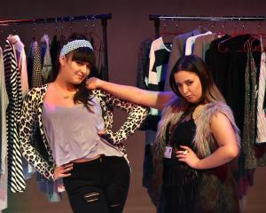 Comedians Maddie Harris (left) and Millie Hanford (both 19) perform in the Dunedin Fringe 