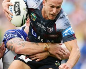 Daly Cherry-Evans drove the Sea Eagles home by setting up four tries in the first half. Photo: Getty