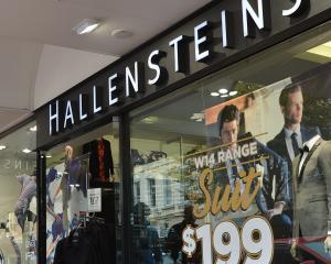 Hallensteins on George St in Dunedin. Photo: ODT.