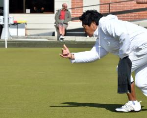 Meri Fryer, of Palmerston North, in action at the New Zealand club championships at the Taieri...