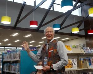 The Oamaru Public Library manager, Philip van Zijl, speaks at the opening of the new-look library...