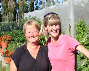 Gardeners Debbie Martin, of Windsor, and Leigh Steel, of Oamaru. Photo: Hamish MacLean.