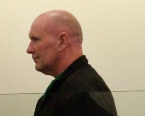 Peter William Pearson in the dock during his sentencing in the Dunedin District Court yesterday....