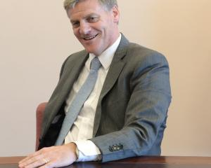 Prime Minister Bill English in Dunedin yesterday. Photo: Linda Robertson.