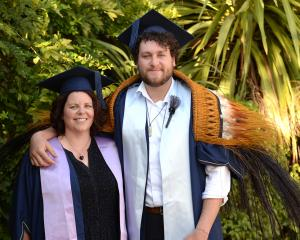 Otago Polytechnic student Sam Beatson-Shaw (22) is set to graduate alongside his mother Deb...
