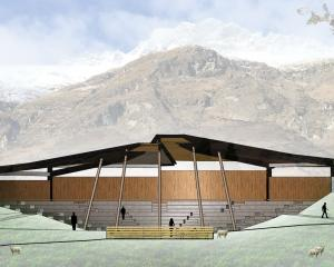A proposed farm demonstrations amphitheatre at Walter Peak. Graphic supplied.