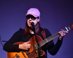 Folk guitarist Nadia Reid performs at the Port Chalmers Town Hall last night as part of her...