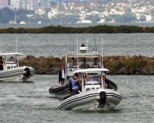 A Sealegs craft enters Auckland's Westpark Marina. Photo supplied.