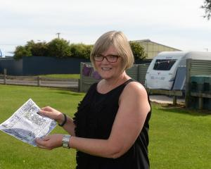 Taieri Communities Facility Trust chairwoman Irene Mosley at the preferred site for a new aquatic...