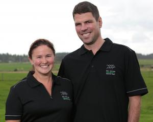Southland-Otago dairy awards regional managers Kelly and Jono Bavin, of Tussock Creek. Photo...