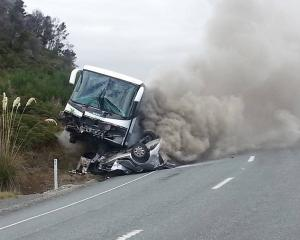 Two German tourists died when a bus crashed into a car on the Te Anau Milford Highway, 21st March...