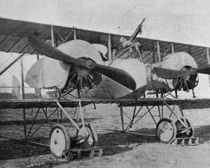 A French Caudron twin-motor bi-plane. - Otago Witness, 28.3.1917.