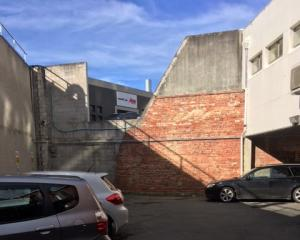 A wall an Australian policeman fell from in central Dunedin. Photo: Shawn McAvinue