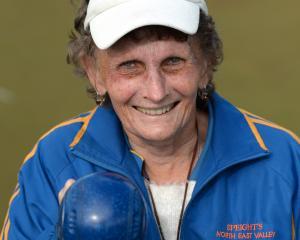 Betty Ferguson (North East Valley) at the Bowls Dunedin veteran singles at the St Kilda club this...